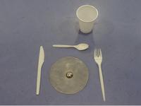 J'ai pensé à une assiette avec ce «truc» en métal sur le sol du hall... Maëlle