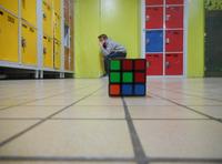 Géry... Sur un Rubik's cube !