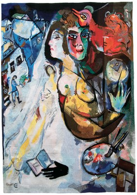 Marc Chagall (d'après), Yvette Cauquil-Prince, maître d'oeuvre, Le gant noir, 2004, Coll. part. (c) ADAGP Paris, 2015 l Photo : Archives Cauquil-Prince, Paris