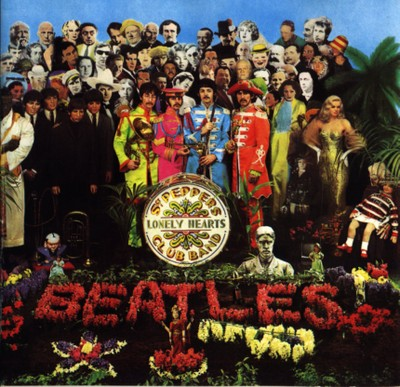 The Beatles - Sergent Peppers Lonely Hearts Club Band, 1967 / Pochette de disque vinyle 33 tours - Peter Blake